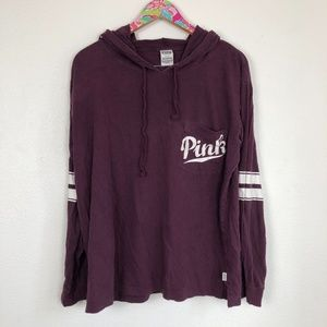 VS PINK maroon hoodie size L // 0956
